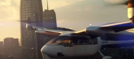 Uber 'flying taxi' trips could cost as little as $70. [Image via Nine News Australia YouTube video]