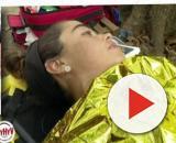 Violeta Mangriñán, enferma es atendida en la Palapa