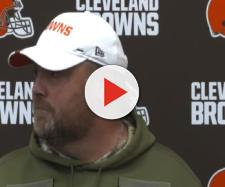 Freddie Kitchens talks about minicamp issues. [Image via Cleveland Browns/YouTube]