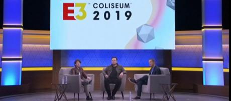 Elon Musk discusses upcoming playable games for Tesla car touchscreens at E3 2019. [Source: Mother Frunker/YouTube/Screenshot]