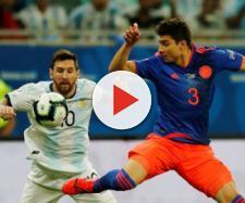 Argentina-Colombia 0-2, contrasto tra Messi e Medina