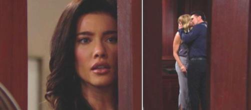 Beautiful, trame: Steffy vede Brooke baciare appassionatamente Bill