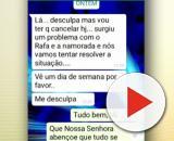 Mensagem foi enviada horas antes do crime. (Reprodução/ TV Globo)