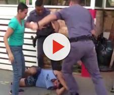 Policiais agridem casal de carroceiros na Zona Oeste de SP. (Reprodução/ Youtube)