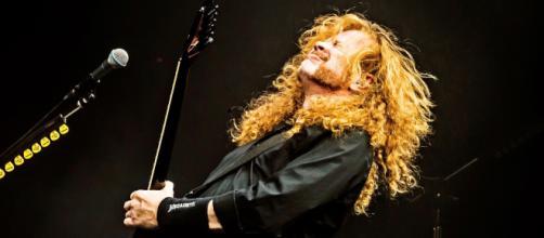 Dave Mustaine sui social annuncia di essere stato colpito da un cancro alla gola. foto - variety.com