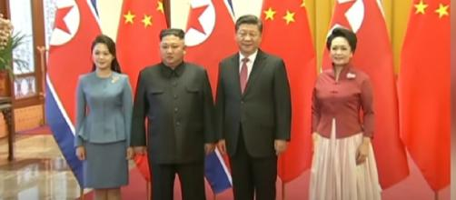 Xi Jinping, Kim Jong Un hold talks, discuss Korean Peninsula. [Image source/CGTN YouTube video]