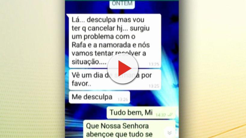 Mãe de Rafael Miguel enviou mensagem para amiga antes de morrer