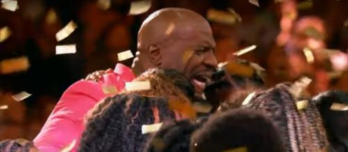 """America's Got Talent"" host Terry Crews makes a very personal move with a golden buzzer for the Detroit Youth Choir. [Image source: AGT-YouTube]"