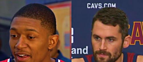Bradley Beal and Kevin Love could be on the move on Thursday's draft – [image credit: NBA.com/Youtube]
