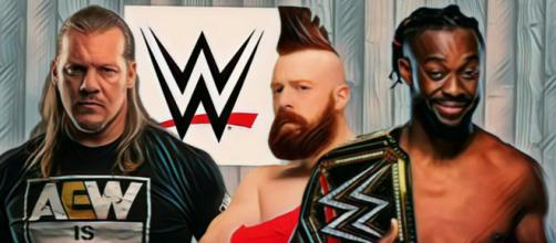Chris Jericho shoots WWE, Kofi Kingston and Sheamus will star in next WWE film. Image credits - WWE (1) - AEW (1) / YouTube