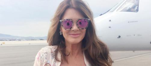 Lisa Vanderpump prepares to board a private plane. [Photo via Instagram]