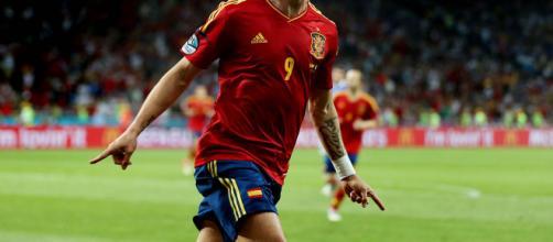 Fernando Torres con la maglia della nazionale spagnola.
