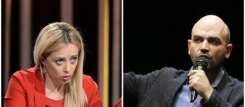 Meloni e Salvini all'attacco di Saviano