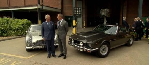 "Prince Charles visits the set of ""Bond 25"" with Daniel Craig. [Image 5 News/YouTube]"
