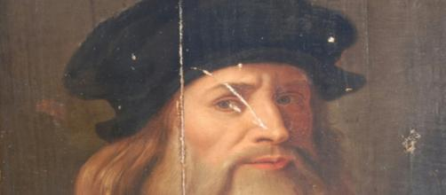 Leonardo da Vinci died 500 years ago. [Image source: Wikipedia Commons and Museum of the Ancient People of Lucania, Italy]