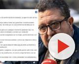 Francisco Serrano y su polémica publicación de Facebook. / Público