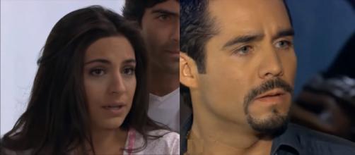 Ana Paula e Gustavo em 'A Que Não Podia Amar'. (Reprodução/Televisa)