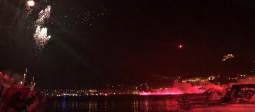 Lo spettacolo pirotecnico per il Centenario della Salernitana