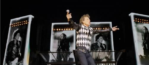 Mick Jagger insieme ai Rolling Stones a Chicago