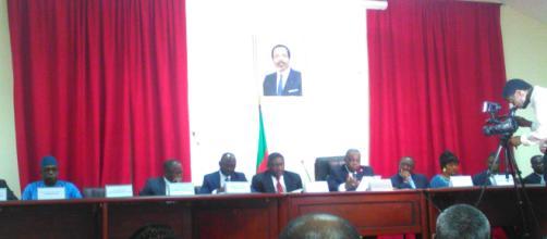 Réunion au Ministère de la Communication (20 juin 2019 à Yaoundé) en présence du Ministre René Emmanuel Sadi © Odile Pahai