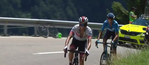 Fabio Aru in fuga nell'ultima tappa del Giro di Svizzera