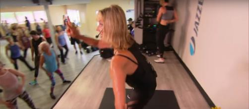 Jazzercise founder Judi Sheppard Missett still has the business savvy and tireless energy for devotees. [Image source: CBSSundayMorning-YouTube]