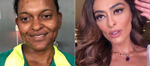 Eliene ganhou transformação em 2018 e surpreendeu pela semelhança com juliana Paes. (Reprodução/Instagram/@welldiasss/@julianapaes)