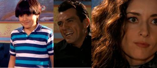Marquinho é filho de Rogério em 'A Que Não Podia Amar'. (Reprodução/ Televisa)