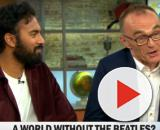 """Star Himesh Patel and director Danny Boyle of """"Yesterday"""" bring song from the soul to the screen. [Image source:CBSThisMorning-YouTube]"""