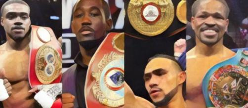 Erroll Spence Jr. Terrence Crawford, Keith Thurman and Shawn Porter are kings of welterweight – (image credit: Boxingscene/Youtube (Fotor)