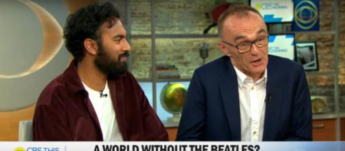 "Star Himesh Patel and director Danny Boyle of ""Yesterday"" bring song from the soul to the screen. [Image source:CBSThisMorning-YouTube]"