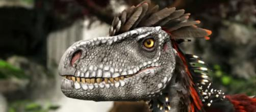 The Deinonychus in ARK's Valguero. [Image source: ThickFreedom/YouTube]