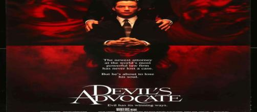 "Movie poster for ""Devil's Advocate"" [Image source: Vintage movie posters]"