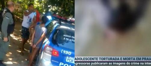 O crime contra a adolescente teria sido motivado por ciúmes. (Reprodução/SBT)
