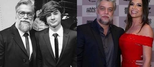 João é fruto do relacionamento do ator com Priscila Borgonov. (Reprocução/Instagram/@joao.assunção/@melpedroso)