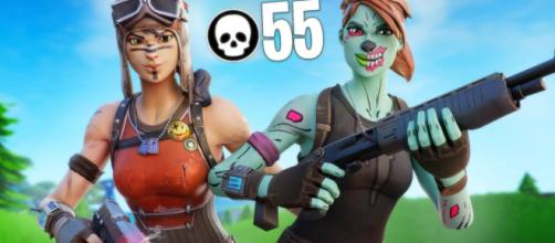 """New """"Fortnite Battle Royale"""" duo record is 55 eliminations! Credit: Slastt / YouTube"""