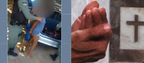 Pai da jovem assassinada preferiu não ter a identidade revelada. (Reprodução/Rede Globo)