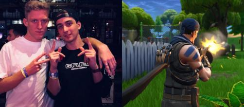 Tfue and Cloak still support each other. [Image Source: Own work via Tfue's Twitter + 'Fortnite' screenshot]