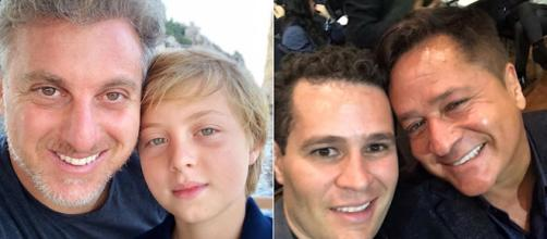 Benício e Pedro sobreviveram após acidentes graves. (Reprodução/Instagram/@LucianoHuck/@pedroleonardocosta)