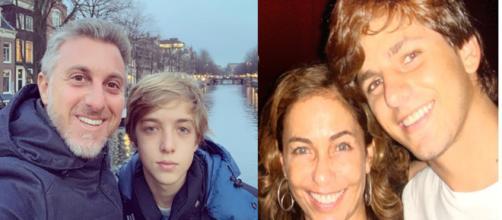 filhos de famososos envolvidos em acidentes. (Reprodução/Instagram/@LucianoHuck/@cissaguimaraes)