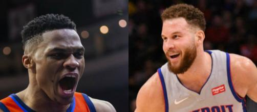 Russell Westbrook and Blake Griffin could team up on the Detroit Pistons. [Image Source: Keith Alison/Flickr]