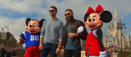 Tom Brady and Julian Edelman are close friends on and off the field. [Image Source: Disney Dave/YouTube]