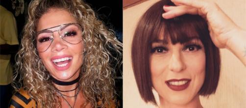 Cátia Paganote, ex-paquita e a atriz Maria Paula estarão no Dancing Brasil 5. (Reprodução/ Fotomontagem)