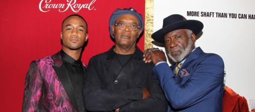 Samuel L. Jackson (centro), Jess T. Usher e Richard Roundtree (direita), Dinastia Shaft. (Arquivo Blasting News)