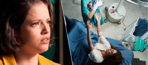 Cenas no hospital podem ter dado pistas de que Josiane não é filha de Maria da Paz. (Reprodução/Rede Globo)