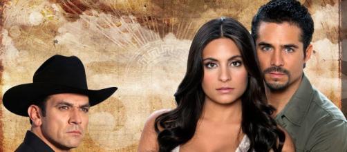 Jorge Salinas, Ana Brenda e José Ron são os protagonistas de 'A Que Não Podia Amar'. (Divulgação/ Televisa)
