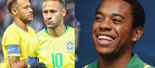 Neymar Jr e Robinho sofreram acusações de violência sexual. (Reprodução/Instagram/ @neymarjr/ @robinho)