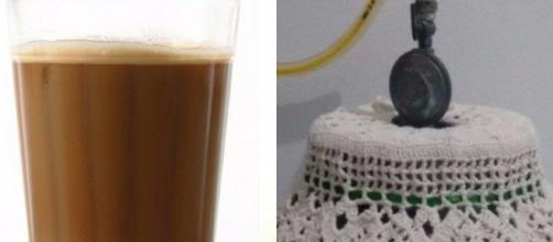 O famoso pingado e a capinha de botijão definitivamente representam o Brasil. (Fotomontagem)
