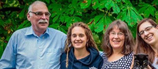 Carola Rackete insieme alla sua famiglia