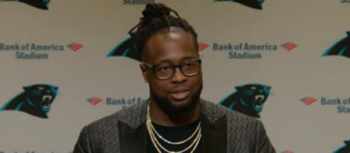 Gerald McCoy signed a one-year deal with the Panthers. [Image Source: Carolina Panthers/YouTube]
